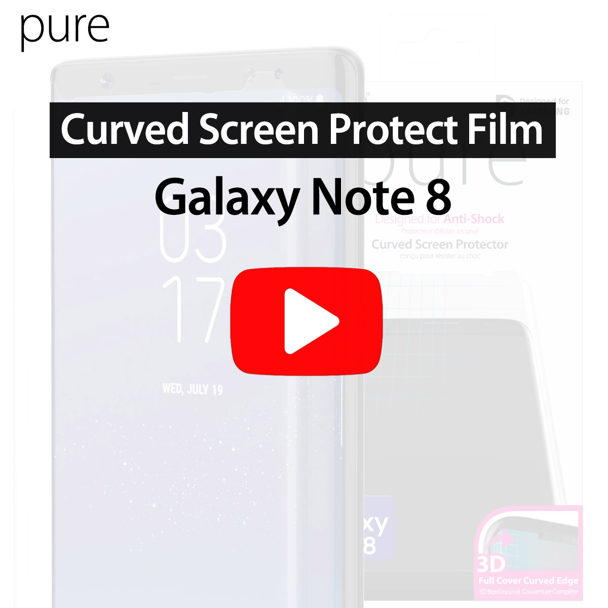 Galaxy Note8]Curved Screen Protector Film Install Guide