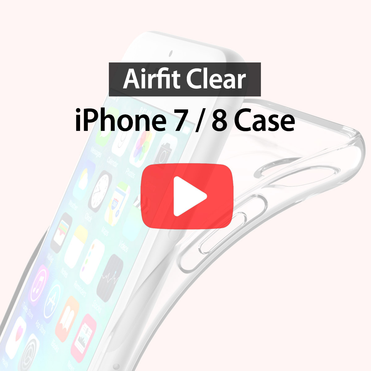 [araree]Airfit clear for iPhone 7/8