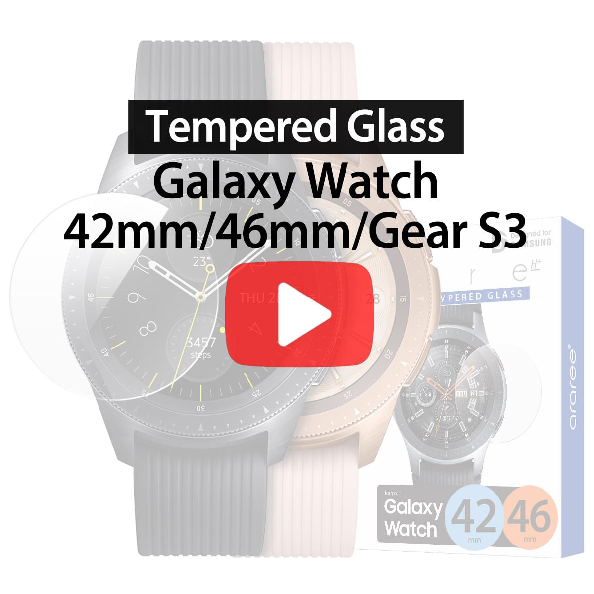 [araree] Tempered Glass for Samsung Galaxy Watch / Gear S3