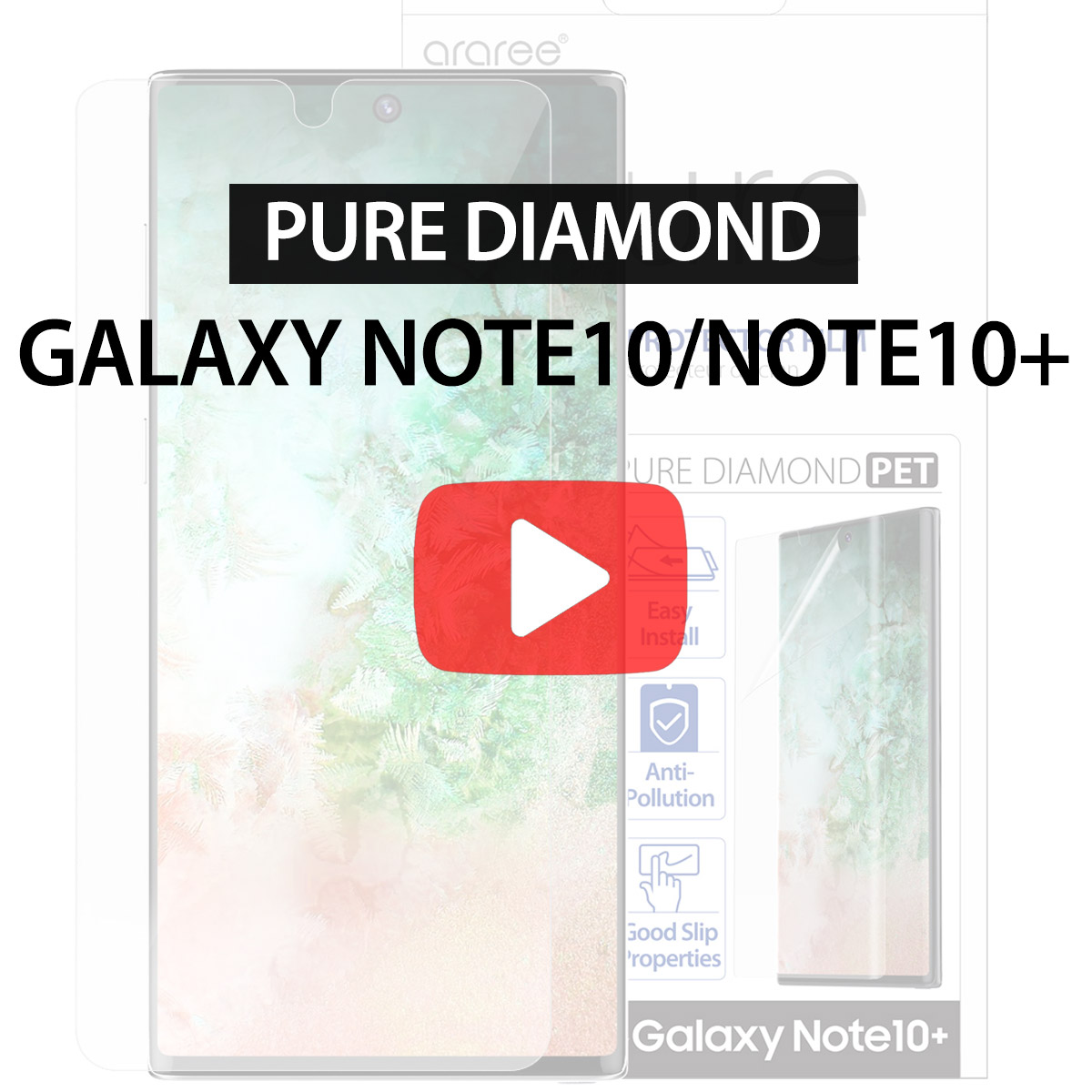 [araree] Pure Diamond for Galaxy Note10/Note10+